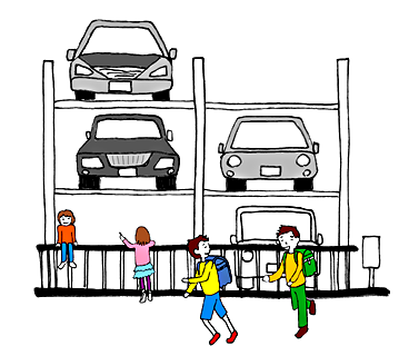 機械式駐車場の事故防止